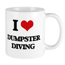 dumpster diving Mugs
