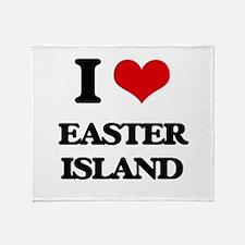 easter island Throw Blanket