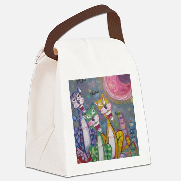 Cat woman Canvas Lunch Bag
