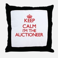 Keep calm I'm the Auctioneer Throw Pillow