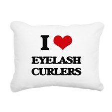 eyelash curlers Rectangular Canvas Pillow