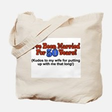 Funny 50th wedding anniversary Tote Bag