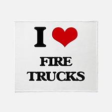 fire trucks Throw Blanket
