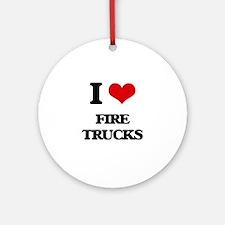 fire trucks Ornament (Round)