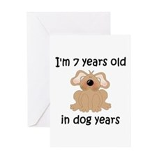 1 dog years 5 - 2 Greeting Cards