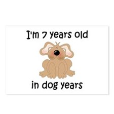 1 dog years 5 - 2 Postcards (Package of 8)