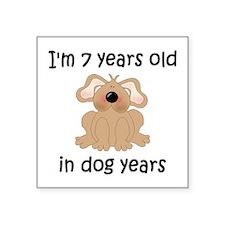 1 dog years 5 - 2 Sticker