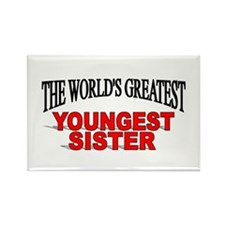 """""""The World's Greatest Youngest Sister"""" Rectangle M"""