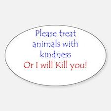 Cute Anti cruelty Decal