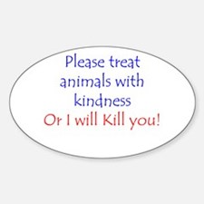 Cute Animal welfare Sticker (Oval)