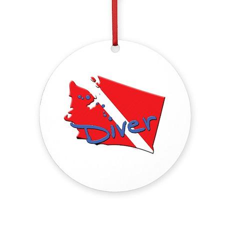 Dive Warshington Ornament (Round)