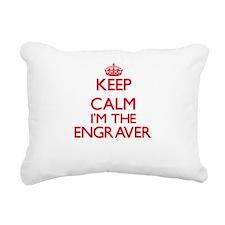 Keep calm I'm the Engrav Rectangular Canvas Pillow