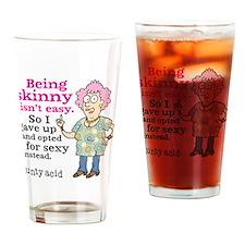 Aunty Acid: Sexy Skinny Drinking Glass