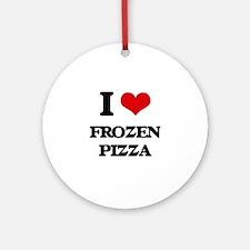 frozen pizza Ornament (Round)