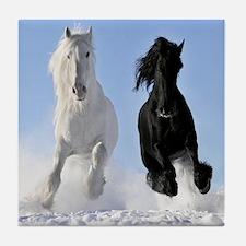 Beautiful Horses Tile Coaster