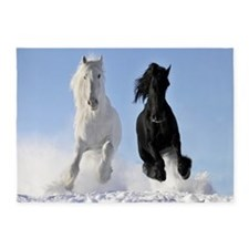 Beautiful Horses 5'x7'Area Rug