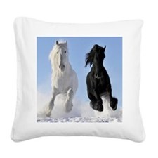 Beautiful Horses Square Canvas Pillow