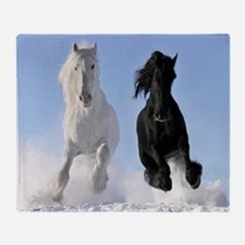 Beautiful Horses Throw Blanket