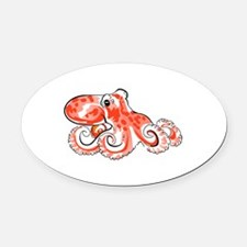 OCTOPUS Oval Car Magnet
