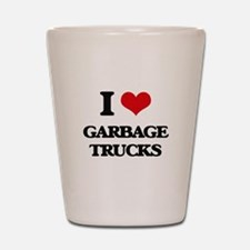 garbage trucks Shot Glass