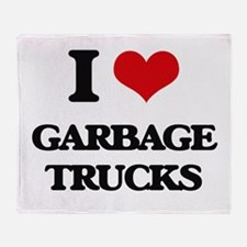 garbage trucks Throw Blanket