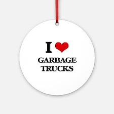 garbage trucks Ornament (Round)