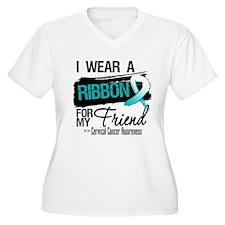 Friend Cervical Cancer Plus Size T-Shirt