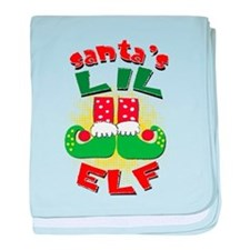 Santa's Little Elf baby blanket