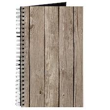 Rustic Wood Print Journal
