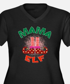 Mama Elf Plus Size T-Shirt