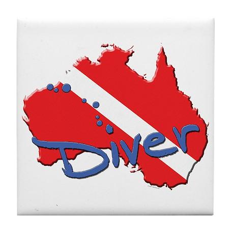 Dive Australia Tile Coaster