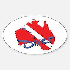 Dive Australia Oval Decal