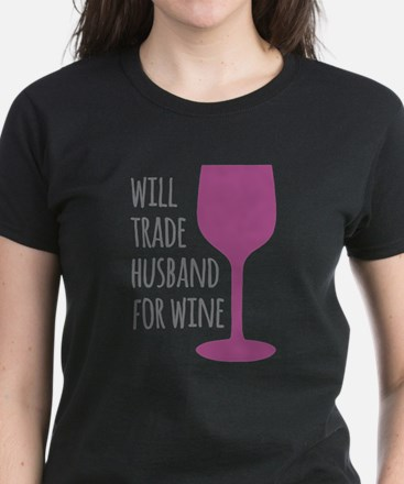 Husband For Wine Women's Dark T-Shirt
