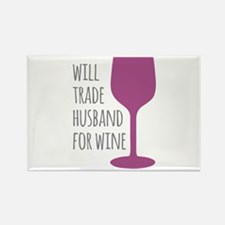Husband For Wine Rectangle Magnet