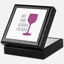 Husband For Wine Keepsake Box