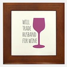 Husband For Wine Framed Tile