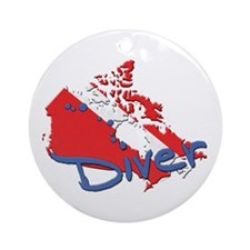 Canada Diver Ornament (Round)