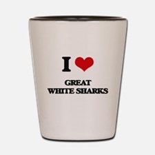 great white sharks Shot Glass