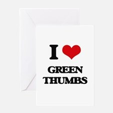 green thumbs Greeting Cards