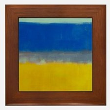 ROTHKO BLUE YELLOW Framed Tile