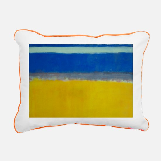 ROTHKO BLUE YELLOW Rectangular Canvas Pillow