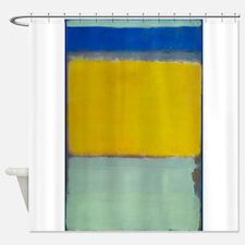 ROTHKO BLUE YELLOW Shower CurtainModern Art Shower Curtains   Modern Art Fabric Shower Curtain Liner. Blue And Yellow Shower Curtain. Home Design Ideas