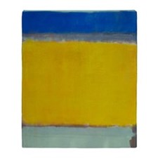 ROTHKO BLUE YELLOW Throw Blanket