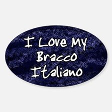 Funky Love Bracco Italiano Oval Decal