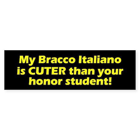 Cuter Bracco Italiano Bumper Sticker