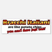 Potato Chips Bracco Italiano Bumper Bumper Bumper Sticker