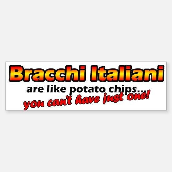 Potato Chips Bracco Italiano Bumper Bumper Bumper Sticker