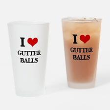gutter balls Drinking Glass