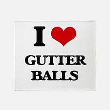 gutter balls Throw Blanket