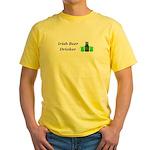 Irish Beer Drinker Yellow T-Shirt